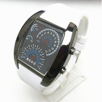 002b1397fb7c Relojes Caballero Aviador F50 Geneva Velocimetro Watch Extensible Caucho  Reforzado - Blanco