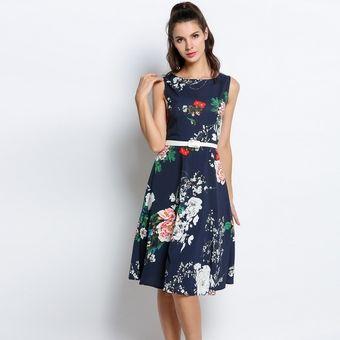 35de218c Vestido Estampado Flores Para Mujer
