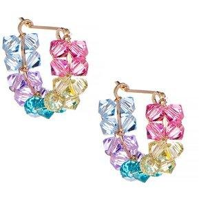 7231280daed1 Arracadas Con Crystals By Preciosa En Aleación Con Oro De 18k