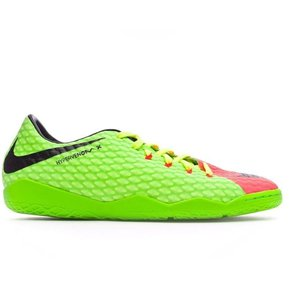 ef86525426888 Zapatos Fútbol Hombre Nike HypervenomX Phelon III IC -Verde Con Naranja
