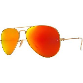 4a97d8332b Compra Lentes Ray-Ban Aviador Dorado; Naranja Espejo online | Linio ...