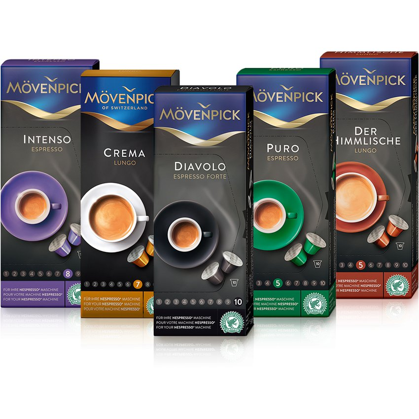Mix café 50 cápsulas - Movenpick