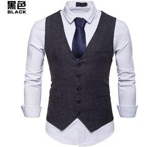 8e0f0b4fbd Chaleco sin mangas para hombre de chaleco de moda - negro