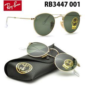 Lentes De Sol Ray Ban Round Metal RB3447 001 Clasico Redondo 50mm ea955f6e874e