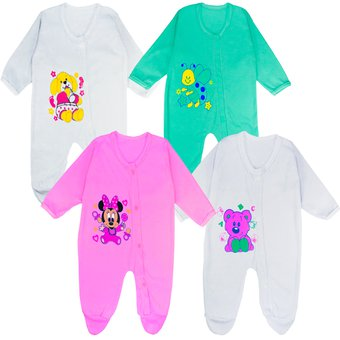 Compra Set Mamelucos Para Bebe Niña X4 Glotoncitos - Multicolor ... 2f105b500b94