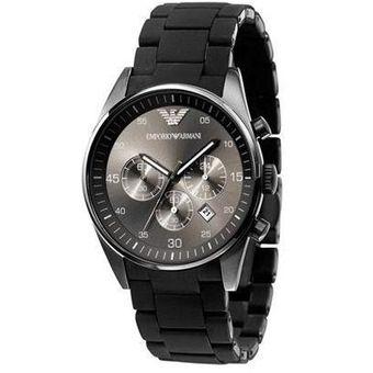 7b9dee1882d8 Compra Reloj Emporio Armani AR 5889 Caucho y Acero - Negro online ...