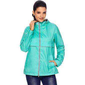 Pretchic Compra 9 Mxlc85068 Lluvia online De Abrigo verde Mujer De vFXPvq