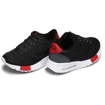 Zapatillas Fila Euro Jogger Sport Infantil Gris y Rojo