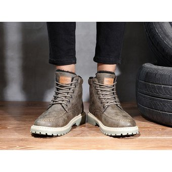 198bce3b84e9c Compra Hombre botas para invierno Tailun-cool-Marrón online