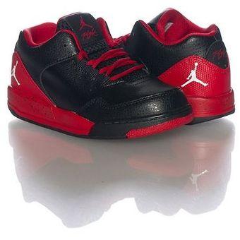 AIR JORDAN - zapatillas para niños Jordan Flight Origin 2 - negro rojo 87d04117a6ad
