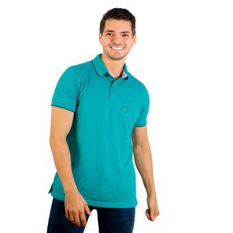 936e402612b4e Compra Camiseta Tipo Polo Hamer Color Verde Jade online