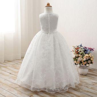 a67d89e95 Compra Moda Boda Vestidos De Princesas Para Niñas Largos-blanco ...