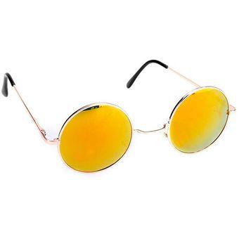 eff3538563 Agotado Gafas De Sol Lente Retro Redondas Moda Para Mujer Hombre Unisex -  Amarillo