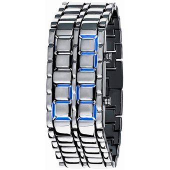 71d9f092b700 Agotado Reloj Para Hombre Digital Modelo Samurai BlackMamut Tipo Pulsera  Metalica Diseño Casual Incluye Estuche Blister -