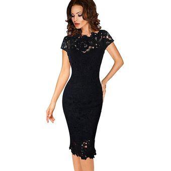 Casual Vestidos Mujer Vestido Pitillo De Encaje Falda Lápiz