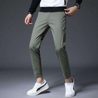 Pantalones A La Altura Del Tobillo De Primavera Y Verano Para Hombre Pantalones Informales Ajustados Corte