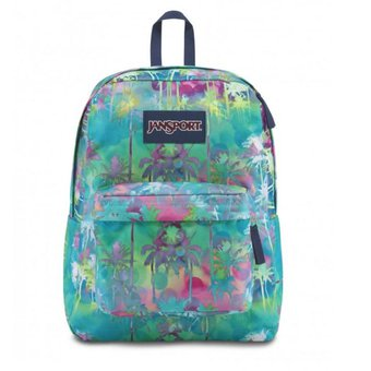 Mochila Jansport Superbreak Electric Palm 25 Litros Original la Vuelta al cole