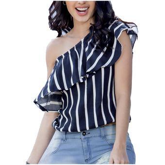 a47c12641 Compra Blusa Juvenil Femenino Marketing Personal 95753 Azul/Marfil ...