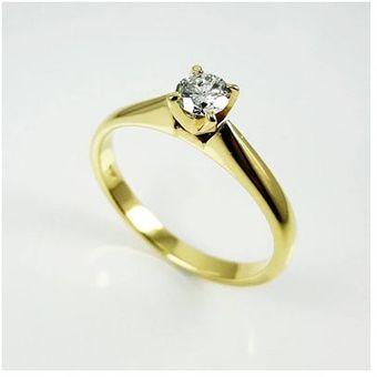 ff895f75b96c Anillo Solitario Modeo Eliana en Oro 18 Kt y Diamante Natural El Señor de  Los Anillos