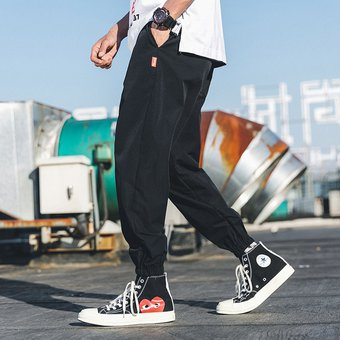 Ropa Estilo Informal Holgada Para Hombre Pantalones Para Correr A La Moda Pantalones De Chanda Yua Linio Peru Un055fa08i63blpe
