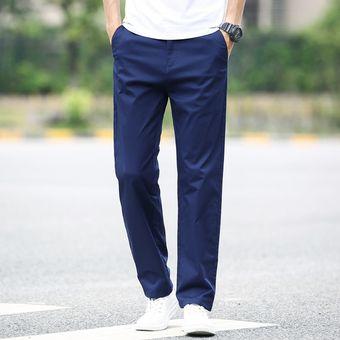 Pantalones Chinos Elasticos De Moda De Otono E Invierno Para Hombre Pantalones Informales De Algodon Negro Pantalones Pentalon Para Hombre 40 42 Xyx Blue Linio Peru Ge582fa05v5vjlpe