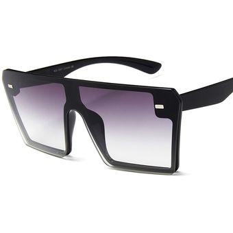 niño comprar Promoción de ventas Gafas de sol cuadradas retro de montura grande para mujer-C7