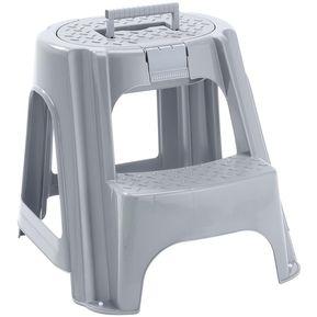 Escalesilla Con Tapa Gris Metalizado Rimax 651383d041c6