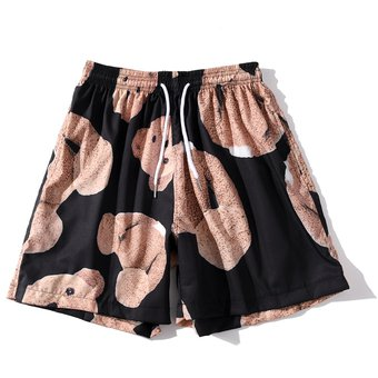 Pantalones Cortos Playeros De Verano Unisex Con Estampado Por Completo De Oso Ropa Informal Estilo Hip Hop Hawaiano Con Cintura Elastica Pantalones Cortos Informales De Moda Para Mujer Black Linio Peru