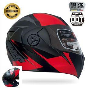 7e14aaf873151 Casco Certificado Abatible Para Moto Ich 3110 Rojo