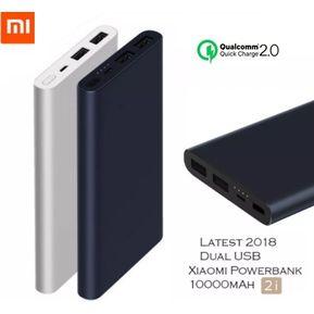 ca795fbada1 Xiaomi Batería Portátil Power Bank 2 10000 mah USB X 2 Carga Rapida - Negro