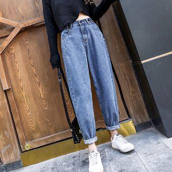 Jeans Boyfriend Sueltos Con Cintura Alta Y Talla Vintage Para Mujer Mama Linio Peru Ge006fa00pmq2lpe