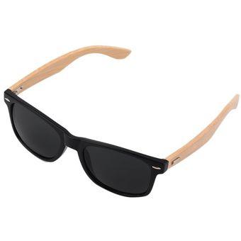 eab535350d Gafas de sol de bambú madera Madera Moda Hombre Mujer Vintage gafas de  verano negro