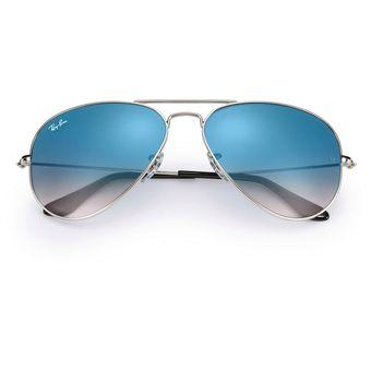 Agotado Ray Ban 3025 003 3F Marco Gris   Lente Azul Gradiente Talle M  Aviador Lentes 8c9290ce04e9