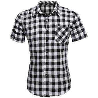 f21294a507d8f Compra Camisa A Cuadros Manga Corta para Hombre-Blanco online ...