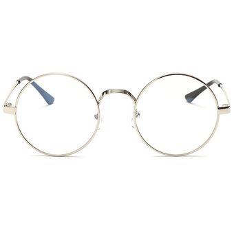 878323aa56 Agotado Vintage ópticos Gafas Las Lentes ópticas Redondo Los Anteojos Grande  Marco -Plateado