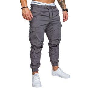 5fa21e079c Casual Multi-bolsillo Harén Pantalones Joggers Para Hombres