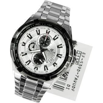 aba300a64c93 Compra Reloj Casio Para Hombre EF 539D 7A Blanco Acero Inoxidable ...