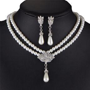 6d4f7f4e0cd0 Agotado Set Collar Aretes Harmonie Accesorios Perlas Dije Blanco