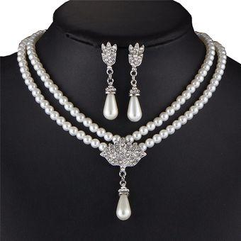 5351ff51a215 Compra Set Collar Aretes Harmonie Accesorios Perlas Dije Blanco ...