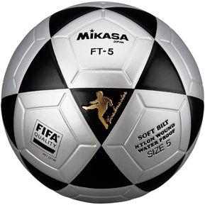 Pelota de Fútbol Profesional Mikasa FT-5 - Gris Negro 7999b5e17a91e