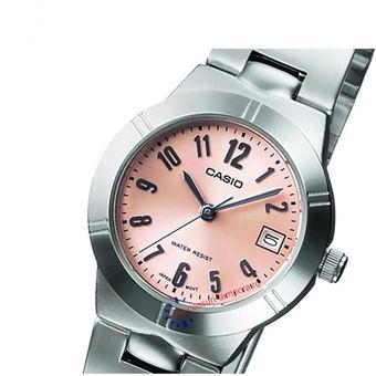 4280ff71a26a Reloj Casio LTP-1241D-4A3- Pulso Acero Inoxidable Plateado Con Rosa Para  Mujer