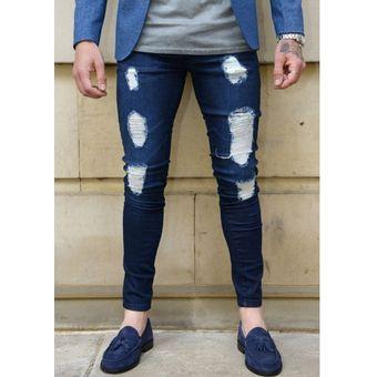 2790e44d78453 Agotado Calidad Pantalones De Mezclilla Para Caballero Jeans Hombre-azul  Oscuro