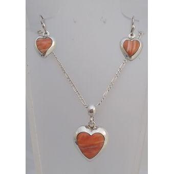 bfd2d02a69c7 Compra Juego Aretes y Dije Modelo Corazón en Plata 950 y Piedras ...