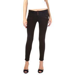 Usafrica - Pantalón Jean Mujer Drill Satin - Marrón Oscuro 3ce2590921f5