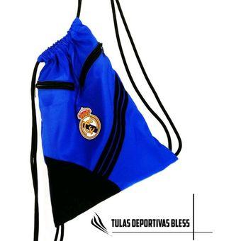 35552c738fa91 Tula Deportiva Real Madrid Azul Tula Gimnasio Grande Estampado Full Tula  Bolso Gimnacio