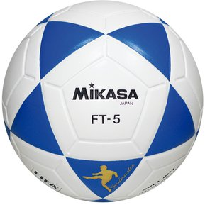 ac49df8058656 Pelota de Fútbol Profesional Mikasa FT-5 - blanco y azul
