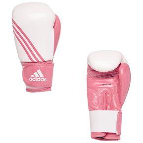 Guantes De Boxeo Adidas Box Dynamic Box-FITB En Cuero Con Maya Blanco Con  Rosa e0d6e9c85372