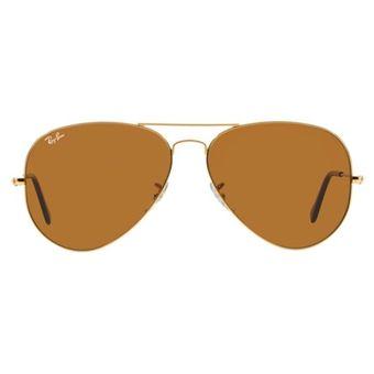 4d6e2dfe20 Agotado Gafas De Sol Ray Ban Aviator 3025 001/33 - Dorado / Café Talle M