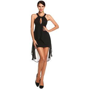Vestido de Fieta Yucheer Hombro Decubierto para Mujer-Negro ca5574f3851e