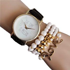 5db680a8a3cd Reloj Mujer Meow Blanco + Pulsera Fashion